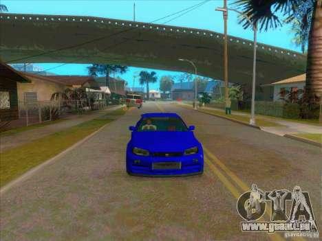 Nissan Skyline GT-R R34 from FnF 4 v.2.0 pour GTA San Andreas vue de droite