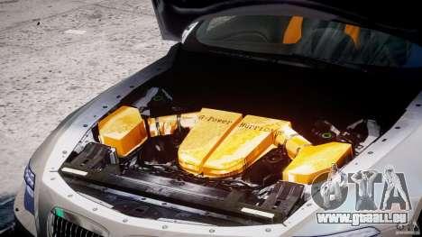 BMW M6 G-Power Hurricane pour GTA 4 Vue arrière