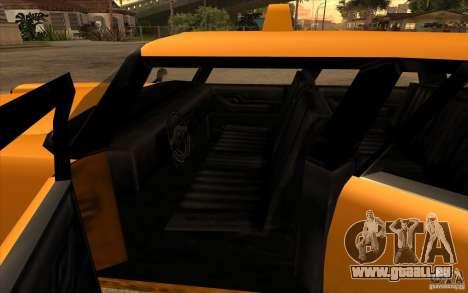 Glendale Cabbie pour GTA San Andreas sur la vue arrière gauche