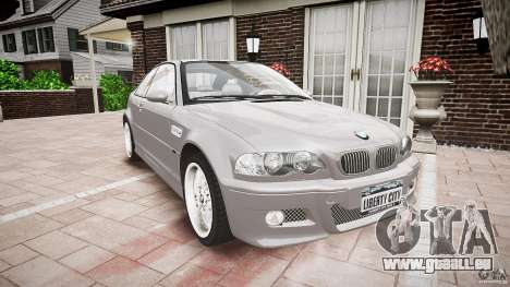 BMW M3 e46 v1.1 für GTA 4 Rückansicht
