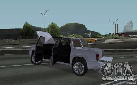 Cavalcade FXT von GTA 4 für GTA San Andreas Rückansicht