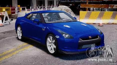 Nissan Skyline GT-R R35 pour GTA 4 Vue arrière