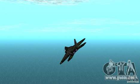 F-22 Raptor Graffity Skin 2 für GTA San Andreas zurück linke Ansicht