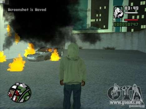 Fumée apparaissent sous les roues, comme dans NF pour GTA San Andreas quatrième écran