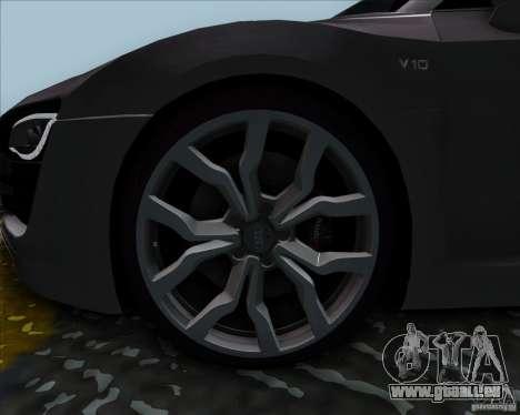 Audi R8 Spyder für GTA San Andreas zurück linke Ansicht