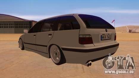 BMW M3 E36 Touring pour GTA San Andreas sur la vue arrière gauche