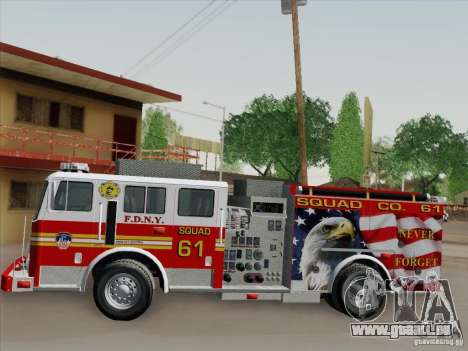 Seagrave Marauder. F.D.N.Y. Squad 61. pour GTA San Andreas salon