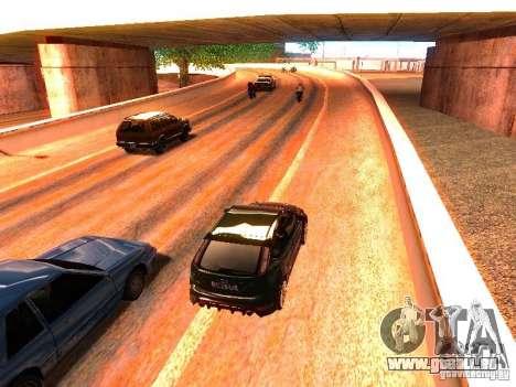 Pilotes normale sur la piste pour GTA San Andreas cinquième écran