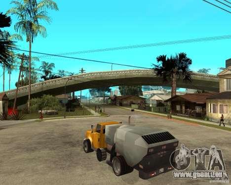 Camion de nettoyage pour GTA San Andreas laissé vue