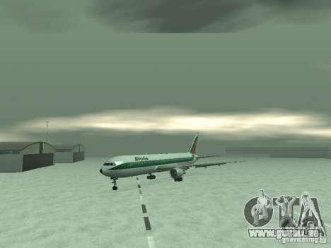 Boeing 767-300 Alitalia pour GTA San Andreas laissé vue