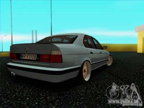 BMW 5 series E34 für GTA San Andreas zurück linke Ansicht