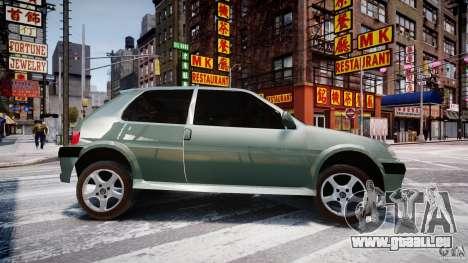 Peugeot 106 Quicksilver pour GTA 4 est une gauche