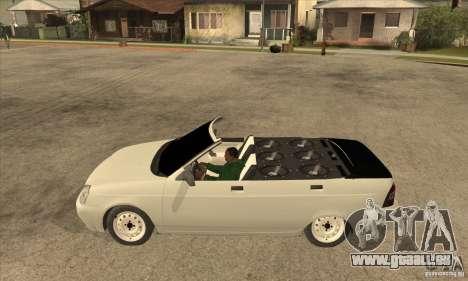VAZ LADA Priora convertible pour GTA San Andreas laissé vue