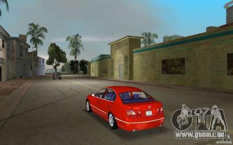 Lexus GS430 pour GTA Vice City sur la vue arrière gauche