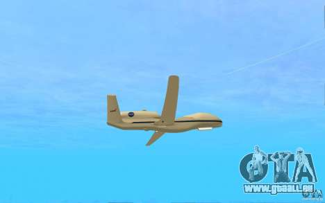 Grumman RQ-4 pour GTA San Andreas vue de droite