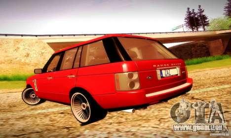 Range Rover Supercharged pour GTA San Andreas vue de droite