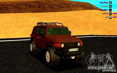 Toyota FJ Cruiser für GTA San Andreas Rückansicht
