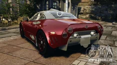 Spyker C8 Laviolette LM85 pour GTA 4 Vue arrière de la gauche