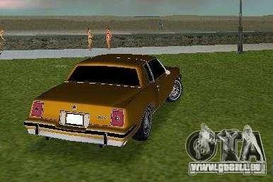 Pontiac Grand Prix für GTA Vice City rechten Ansicht