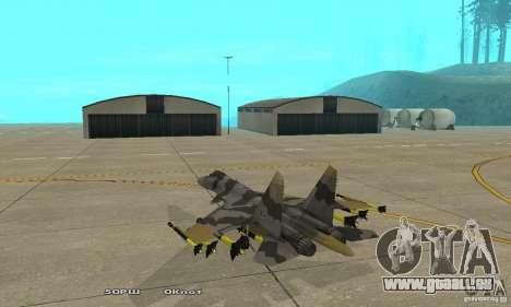 Su-37 Terminator pour GTA San Andreas sur la vue arrière gauche