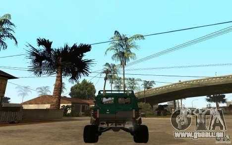 Pain UAZ dur hors route pour GTA San Andreas sur la vue arrière gauche