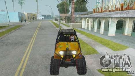 Jeep CJ-7 4X4 pour GTA San Andreas vue arrière