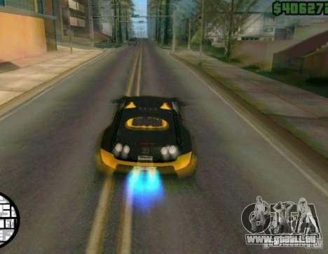 Bugatti Veyron Super Sport final pour GTA San Andreas vue arrière