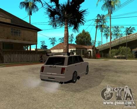 VAZ 2104 schwer Tuning für GTA San Andreas zurück linke Ansicht