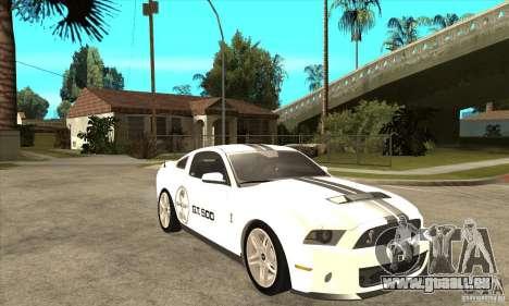Ford Shelby GT 500 2010 pour GTA San Andreas vue arrière
