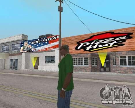 Nouvelles textures, des restaurants et des bouti pour GTA San Andreas dixième écran