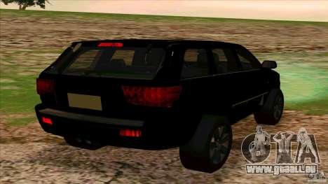 Dodge Durango 2012 für GTA San Andreas zurück linke Ansicht