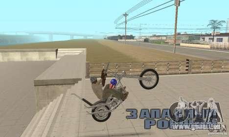 Captain America Chopper pour GTA San Andreas vue de droite