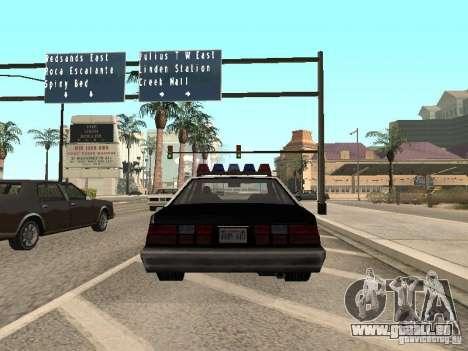 LVPD Police Car für GTA San Andreas zurück linke Ansicht