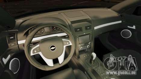 Chevrolet Lumina 2009 Mr. Bolleck Edition pour GTA 4 est une vue de l'intérieur