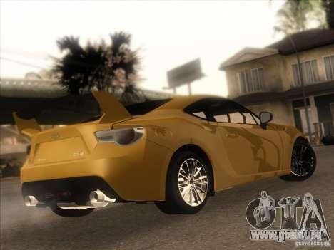 Toyota GT86 2012 pour GTA San Andreas laissé vue