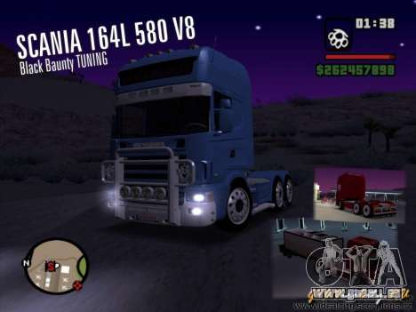 Scania 164L 580 V8 Black Beaunty für GTA San Andreas