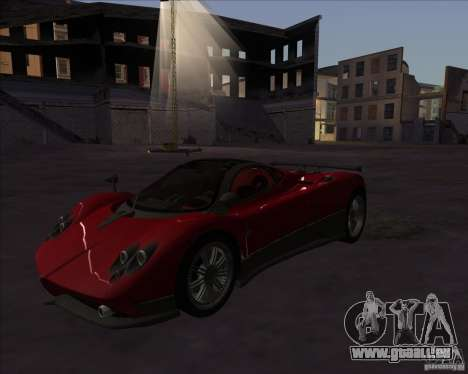 Pagani Zonda F für GTA San Andreas zurück linke Ansicht