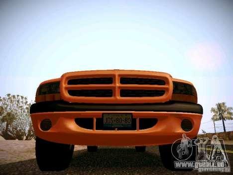 Dodge Ram 1500 Dacota pour GTA San Andreas vue intérieure