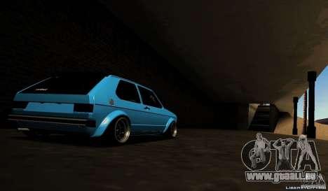 Volkswagen Golf Mk1 Euro pour GTA San Andreas vue de droite