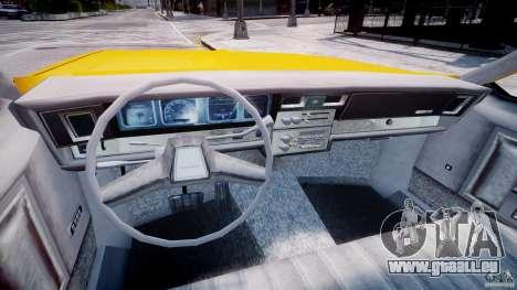 Chevrolet Impala Taxi 1983 pour GTA 4 Vue arrière