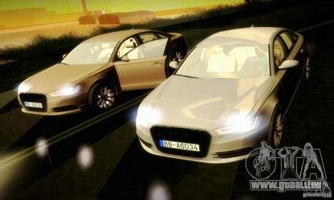 Audi A6 2012 pour GTA San Andreas vue de côté