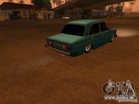VAZ 2106 Hobo pour GTA San Andreas vue arrière