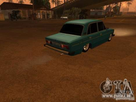 VAZ 2106 Hobo für GTA San Andreas Rückansicht
