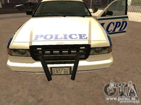 Die Polizei von GTA4 für GTA San Andreas Seitenansicht