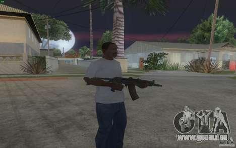 AKS-74U pour GTA San Andreas deuxième écran