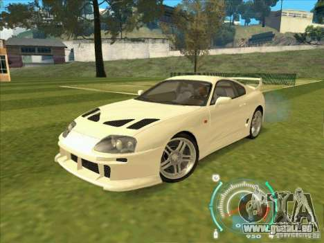 Toyota Supra from 2 Fast 2 Furious pour GTA San Andreas laissé vue