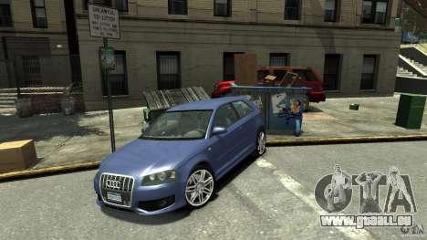 Audi S3 2006 v1.1 n'est pas tonirovanaâ pour GTA 4 Vue arrière de la gauche