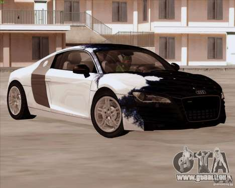 Audi R8 Production für GTA San Andreas obere Ansicht