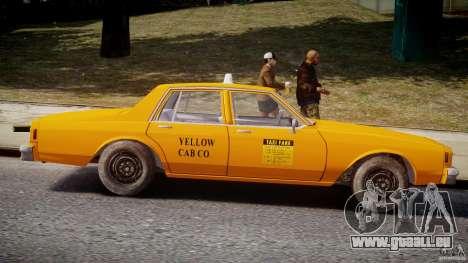 Chevrolet Impala Taxi v2.0 pour GTA 4 est un côté