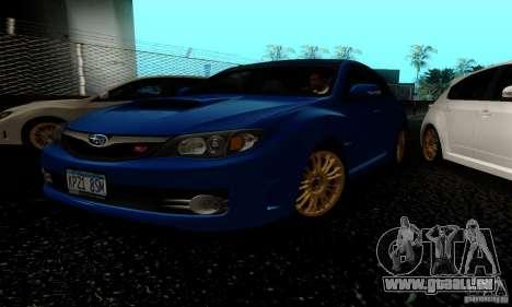 2008 Subaru Impreza Tuneable pour GTA San Andreas laissé vue